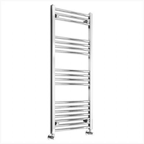 Reina Capo Flat Thermostatic Electric Towel Rail - 800mm x 600mm - Chrome